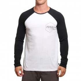 Animal Mono Long Sleeve Top White