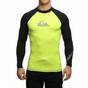 Quiksilver All Time Long Sleeve Rash Vest 16 Yello