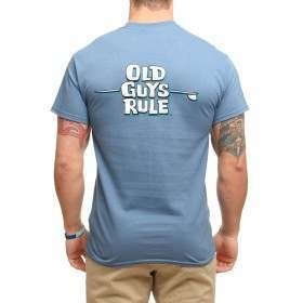 OLD GUYS RULE LONGBOARD LINES TEE Indigo Blue