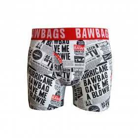 Bawbags Tabloid Boxers Black/White
