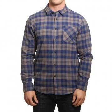 Volcom Caden Plaid Shirt Matured Blue