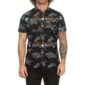 ONeill Tropical Shirt Black/Blue
