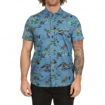 ONeill Tropical Shirt Blue/Yellow