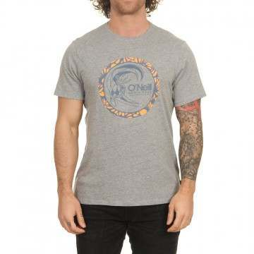 ONeill Circle Surfer Tee Silver Melee