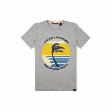 ONeill Boys Palm Print Tee Silver Melee