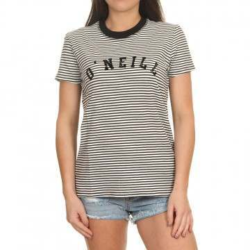 ONeill Essentials Stripe Tee White/Black