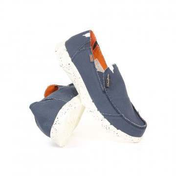 Hey Dude Farty Funk Slip-Ons Navy/Orange