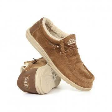 Hey Dude Wally Chalet Cord Shoes Tobacco