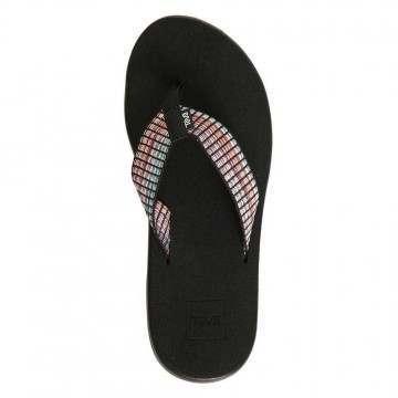 Teva Voya Flip Sandals Bar Street Black