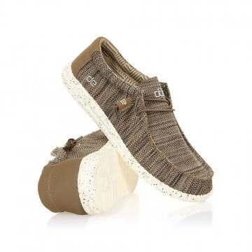 Hey Dude Wally Sox Shoes Brown Textile