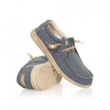Hey Dude Wally Natural Shoes Navy