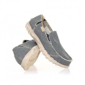 Hey Dude Farty Natural Slip-Ons Blue