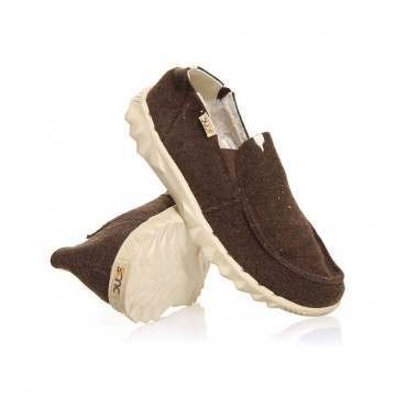 Hey Dude Farty Chalet (fur Lined) Shoes Choco Felt