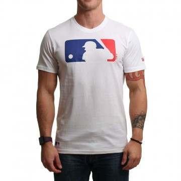 New Era MLB Logo Tee White