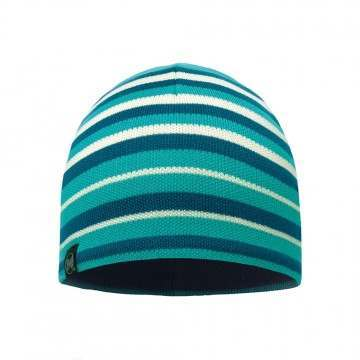 Buff Laki Stripes Beanie Lake Blue