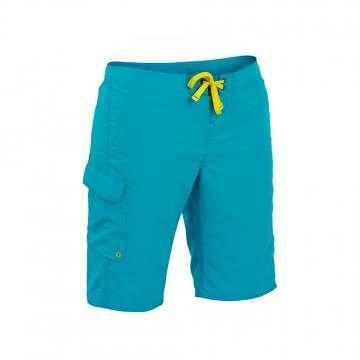 Palm Skyline Board Shorts Women Aqua
