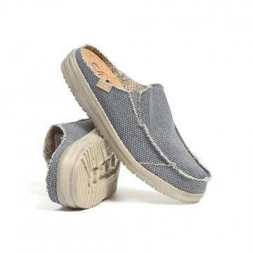 Hey Dude Martin Natural Slip-Ons Navy