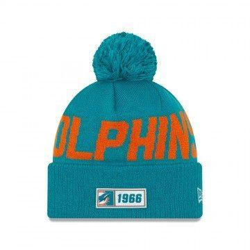 New Era Miami Dolphins Sport Knit Beanie Turquoise