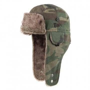 New Era Trapper Hat Green Camo