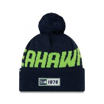 New Era Seattle Seahawks Sport Knit Beanie Navy