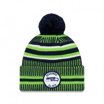New Era Seattle Seahawks Bobble Knit Beanie OTC