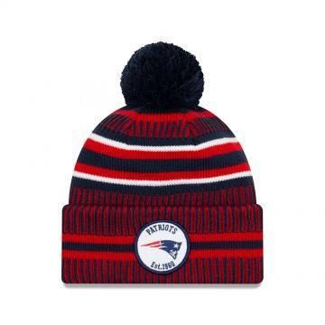 New Era New England Patriot Bobble Knit Beanie OTC
