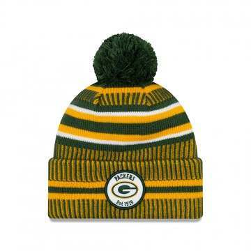 New Era Greenbay Packers Bobble Knit Beanie OTC
