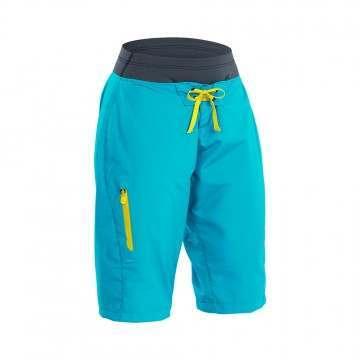 Palm Horizon Womens Shorts Aqua