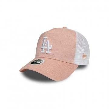 New Era LA Dodgers A-Frame Trucker Cap Pink
