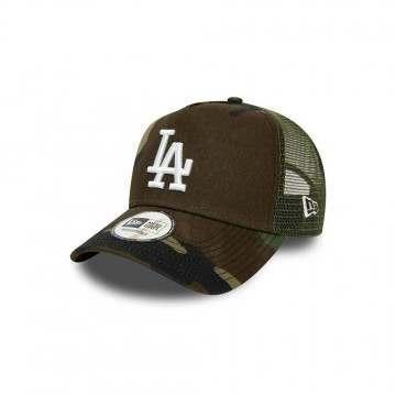 New Era LA Dodgers AFrame Trucker Cap Camo