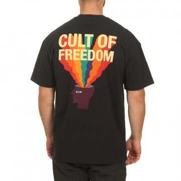 Globe Cult of Freedom Tee Washed Black