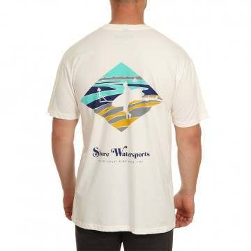 Shore Wittering Twin Fin Tee White