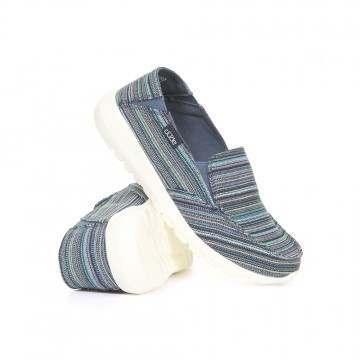 Hey Dude Ava Ibiza Stripe Slip-Ons Blue