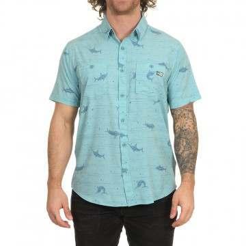 Salty Crew Horizon Tech Shirt Dusty Blue