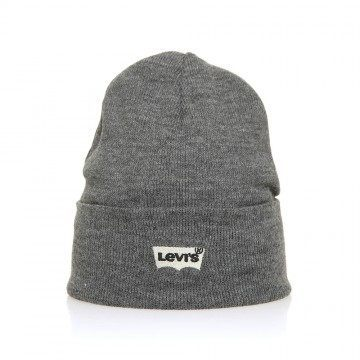 Levis Batwing Embroidered Beanie Regular Grey
