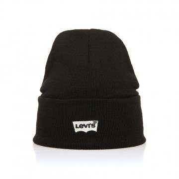 Levis Batwing Embroidered Beanie Black