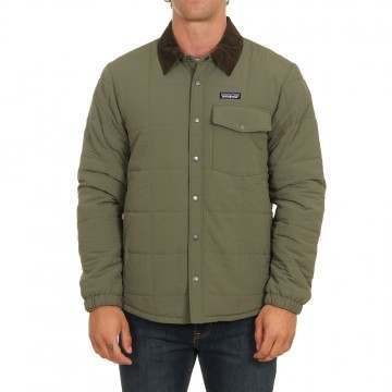 Patagonia Isthmus Quilted Shirt Jacket Ind Green