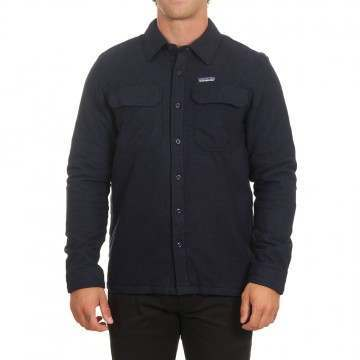 Patagonia Ins Fjord Flannel Shirt Jacket Navy