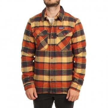 Patagonia Ins Fjord Flannel Shirt Jacket Burn Red