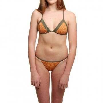 Pukas Double Tri Bikini Orange Bitzgane