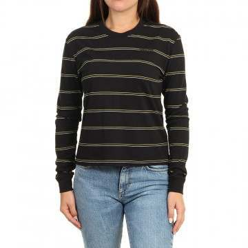 Volcom Doing Fine Long Sleeve Top Black