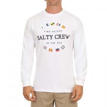 Salty Crew Maritime Long Sleeve Top White