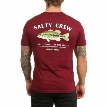 Salty Crew Big Mouth Tee Burgandy