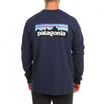 Patagonia P6 Long Sleeve Responsibili-Tee Navy
