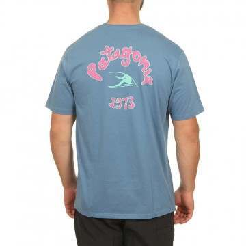 Patagonia Vision Mission Tee Pigeon Blue