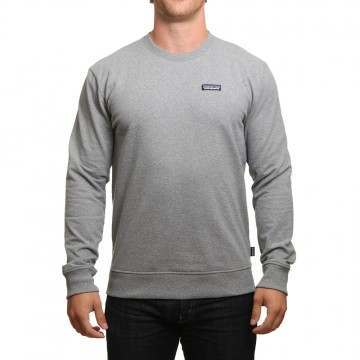 Patagonia P6 Label Uprisal Crew Gravel Heather
