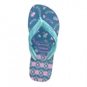 Havaianas Kids Flores Sandals Blue