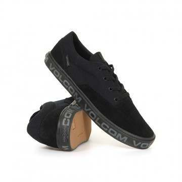 Volcom Draw Lo Suede Shoes Black