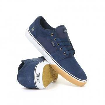 Etnies Barge LS Shoes Navy/Tan/White