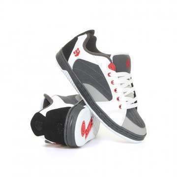 Etnies Czar Shoes Grey/White/Red